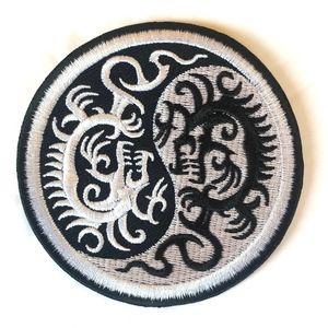 Accessories - Yin Yang Patch iron on Dragon DIY Peace AUM OM